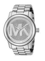 New Michael Kors Runway Silver Pave Stainless Steel Logo MK5544 Women Watch - $108.85
