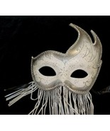Beaded Masquerade Masks Silver White - $10.95