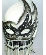 Black & Silver Beaded Masquerade Halloween Masks - $10.95
