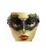Black Butterfly Venetian Metal Laser Cut Masque... - $10.95