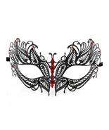 Black Butterfly Metal Laser Cut Masquerade Mask... - $10.95