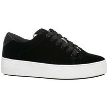 Michael Kors Velvet Poppy Sneakers Lace Up Platform Trainers Size 6.5 Bl... - $63.70