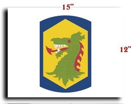 US Army 404 Chemical Brigade SSI CANVAS art pri... - $20.78