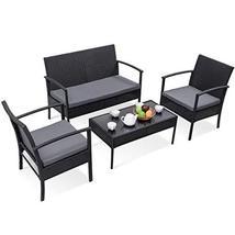 Hulaloveshop 4 pcs Patio Rattan Wicker Furniture Set - $305.86