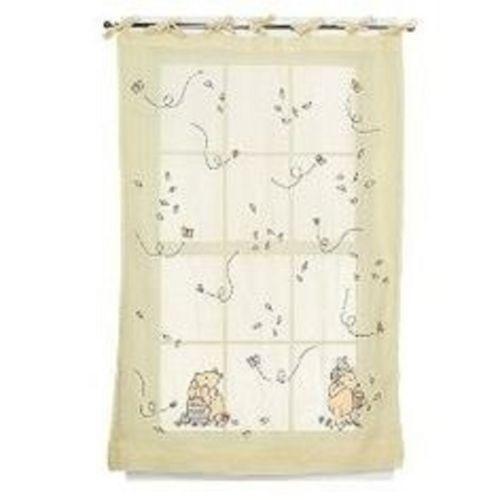 Classic Winnie The Pooh Window Panel Rare Neutral Tie Top Curtain Best Friends Window Treatments