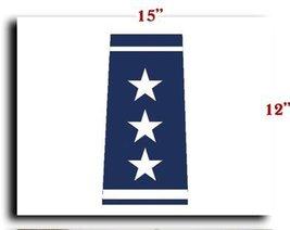 Air Force USAF Officer Lieutenant General Shoulder Marks CANVAS art prin... - $20.78