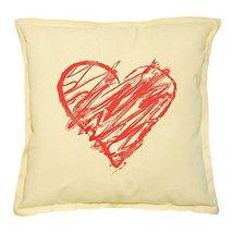 Vietsbay Heart Love-1 Printed Khaki Decorative Throw Pillows Cover Case ... - $14.39