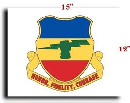 """US Army 73rd Cavalry Regiment DUI CANVAS art print framed stretched 15""""x12"""" - $20.78"""