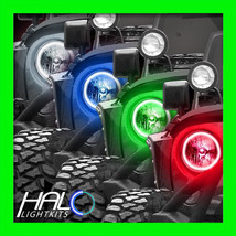 2007-2014 ORACLE JEEP WRANGLER COLORSHIFT LED LIGHT HEADLIGHT HALO KIT 2... - $299.99
