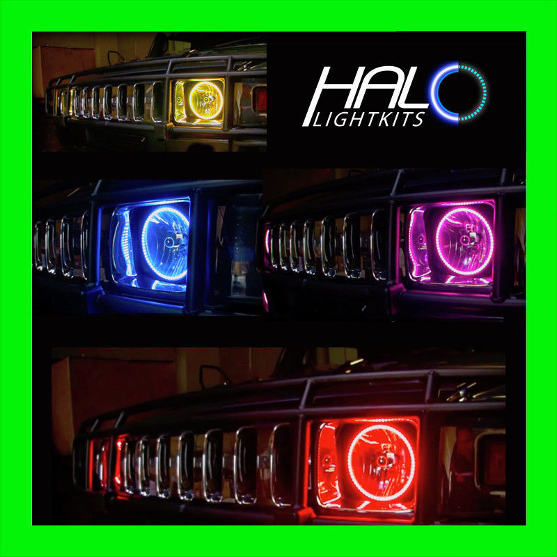 Primary image for 2004-2009 ORACLE HUMMER H2 COLORSHIFT LED LIGHT HEADLIGHT HALO KIT w/REMOTE