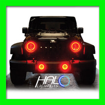 2007-2014 JEEP WRANGLER RED PLASMA HALO HEADLIGHT LIGHT KIT (2 Rings) by... - $174.99