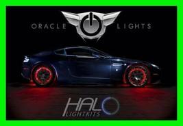 Red Led Wheel Lights Rim Lights Rings By Oracle (Set Of 4) For Jaguar Models - $193.95