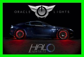 Red Led Wheel Lights Rim Lights Rings By Oracle (Set Of 4) For Volkswagen - $193.95