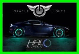 Aqua Led Wheel Lights Rim Lights Rings By Oracle (Set Of 4) For Jaguar Models - $194.99