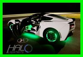 Green Led Wheel Lights Rim Lights Rings By Oracle (Set Of 4) For Jaguar Models - $192.99