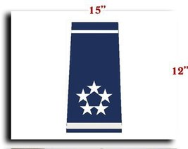 Air Force USAF Officer General of the Air Force Shoulder Marks CANVAS art pri... - $20.78