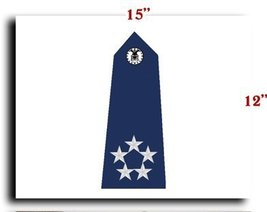 Air Force USAF Officer General of the Air Force Shoulder Service CANVAS art p... - $20.78