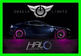 Pink Led Wheel Lights Rim Lights Rings By Oracle (Set Of 4) For Ford F150 F250 - $194.95