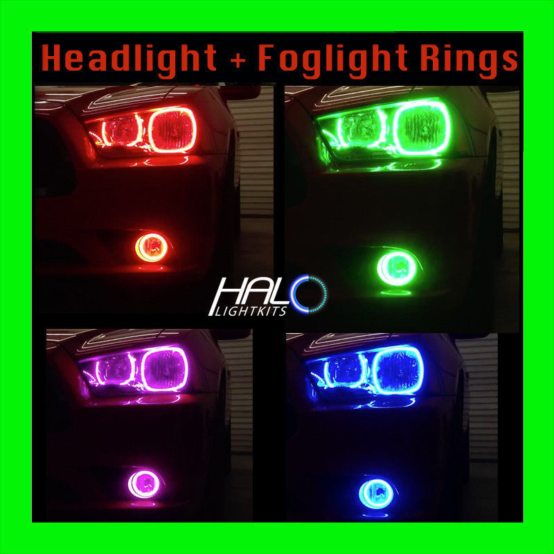 Primary image for 2011-2014 ORACLE DODGE CHARGER COLORSHIFT LED HEADLIGHT+FOG HALO RINGS KIT