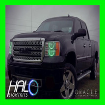 2007-2013 GMC Sierra Green PLASMA Headlight Round V1 Halo Ring Kit by Or... - $209.99