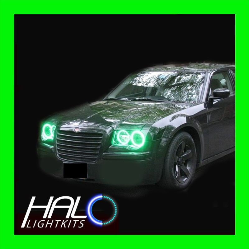 Primary image for 2005-2010 CHRYSLER 300C GREEN PLASMA LIGHT HEADLIGHT HALO KIT 4 RINGS by ORACLE