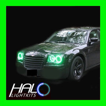 2005-2010 CHRYSLER 300C GREEN PLASMA LIGHT HEADLIGHT HALO KIT 4 RINGS by... - $209.99