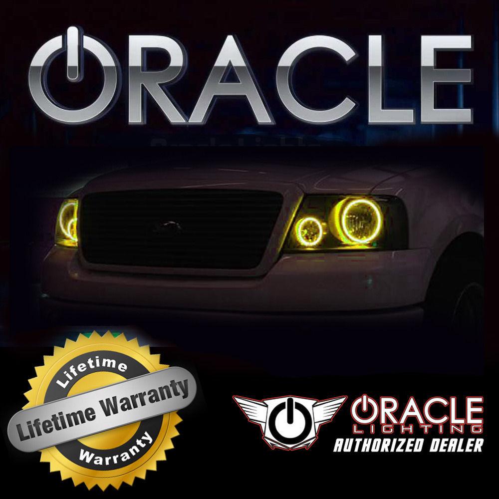ORACLE Ford Explorer 2006-2010 AMBER LED Headlight Halo Angel Eyes Kit