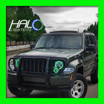 2008-2013 ORACLE JEEP LIBERTY GREEN PLASMA LIGHT HEADLIGHT HALO KIT - $191.99