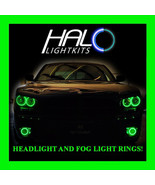 2006-2010 DODGE CHARGER GREEN LED HEADLIGHT + FOG LIGHT HALO KIT by ORACLE - $297.99