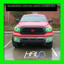 2007-2013 ORACLE Toyota Tundra GREEN PLASMA Headlight+Fog Halo Ring Kit ... - $326.99