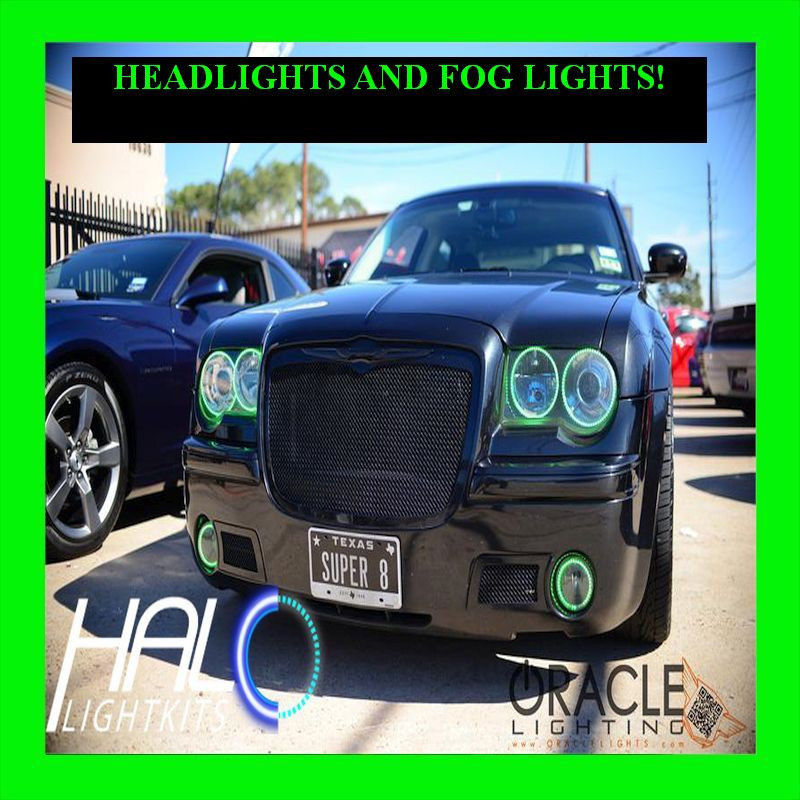 Primary image for 2005-2010 CHRYSLER 300 GREEN LED HEADLIGHT+FOG HALO KIT 6 RINGS by ORACLE