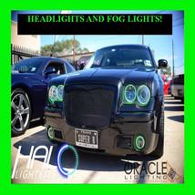 2005 2010 Chrysler 300 C Green Led Headlight+Fog Halo Kit 6 Rings By Oracle - $297.99