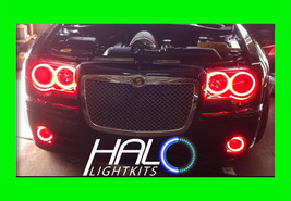 2005 2010 Chrysler 300 Red Plasma Headlight+Fog Halo Kit 6 Rings By Oracle - $327.99