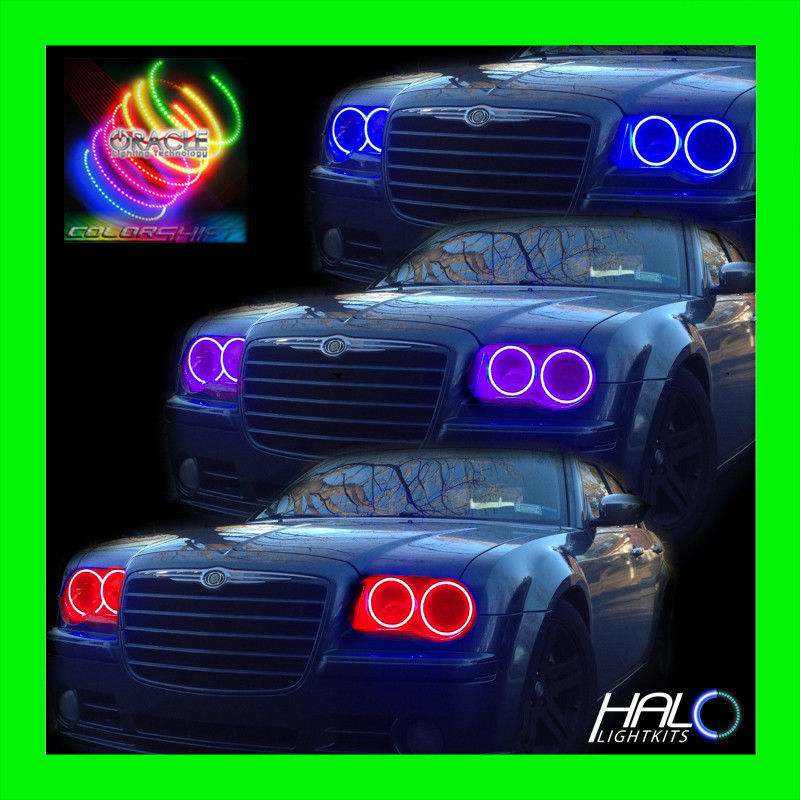 Primary image for 2005-2010 CHRYSLER 300C COLORSHIFT LED HEADLIGHT HALO KIT 4 RINGS by ORACLE