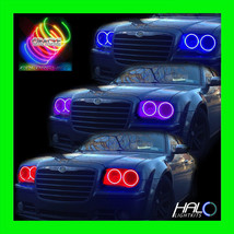 2005 2010 Chrysler 300 C Colorshift Led Headlight Halo Kit 4 Rings By Oracle - $364.99