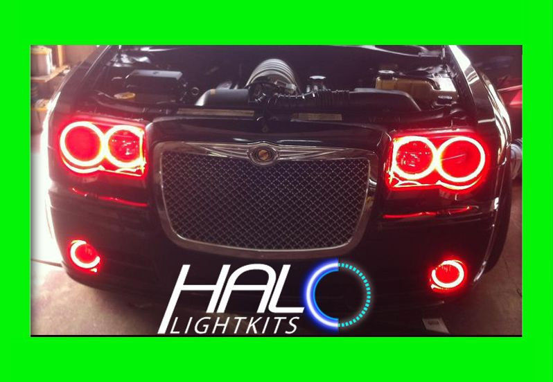 Primary image for 2005-2010 CHRYSLER 300C RED PLASMA HEADLIGHT+FOG HALO KIT 6 RINGS by ORACLE