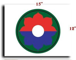"""US Army 9th Infantry Division SSI CANVAS art print framed stretched 15""""x12"""" - $20.78"""