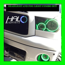 2007-2013 ORACLE TOYOTA TUNDRA GREEN LED HEADLIGHT+FOG HALO ANGEL EYE RI... - $294.99