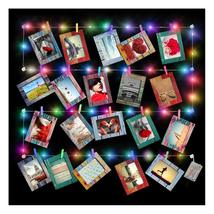 20 Pack Paper Picture Frames 4x6 with Wood Clips and String Light Multi ... - $15.00
