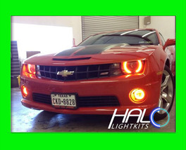 2010-2013 CHEVY CAMARO NON-RS AMBER PLASMA HALO HEADLIGHT LIGHT KIT by O... - $184.99