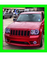 2005-2010 Oracle Jeep Grand Cherokee 6000K/White CCFL Headlight+Fog Halo... - $289.99
