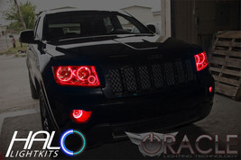 2011-2013 Jeep Grand Cherokee RED LED Headlight+Fog Halo Ring Kit by Oracle - $296.99
