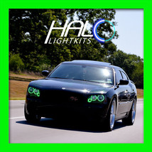 2006-2010 DODGE CHARGER GREEN PLASMA TRIPLE HEADLIGHT HALO RING KIT by O... - $249.99
