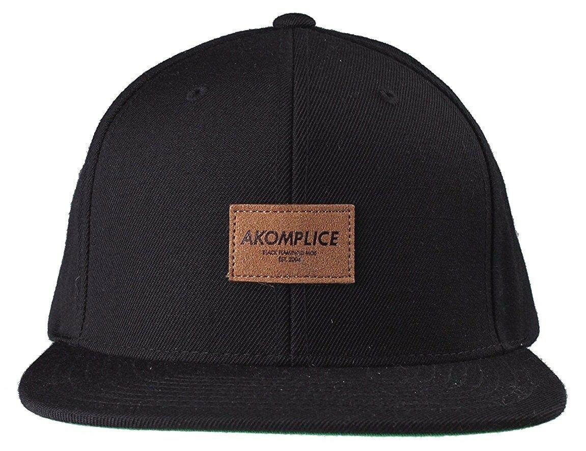 New Akomplice Black Flamingo Mob Est. 2004 Label Patch Snapback Baseball Hat