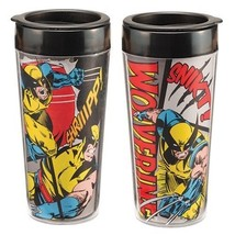 X-Men's Wolverine Comic Art 16 oz. Double Wall Plastic Travel Cup, NEW B... - $12.55