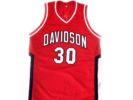 Stephen Curry #30 Davidson College Wildcats Basketball Jersey Red Any Size image 4