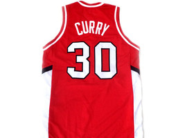 Stephen Curry #30 Davidson College Wildcats Basketball Jersey Red Any Size image 5