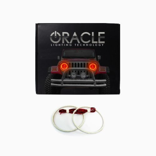 Oracle Lighting GM-SI0813F-A - GMC Sierra LED Halo Fog Light Rings - Amber - $115.98