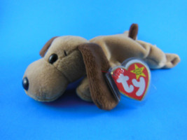 Beanie Babies Beanbag Bones Dog 1993 MWT Unused Stored in Zip Lock Bag RARE - $6.62