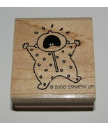 Baby Crying Rubber Stamp New Stampin Up Newborn Wood Mounted Retired NOS... - $6.78